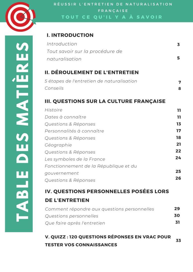 questions entretien naturalisation 2021 pdf